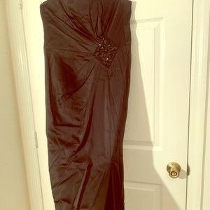 Long strapless dress open front size 12